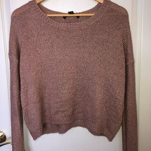 FOREVER 21 Knitted Rose-gold Sweater